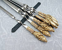 Шампура Сокол набор шампуров в кожаном колчане ручная работа 6шт