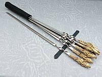 Подарочный набор шампуров Сокол  в кожаном колчане ручная работа 6шт