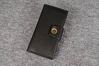 Кожаный кошелек ручной работы Frico | Черный Краст, фото 1