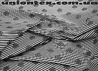 Ткань коттон стрейч тонкий принт якоря