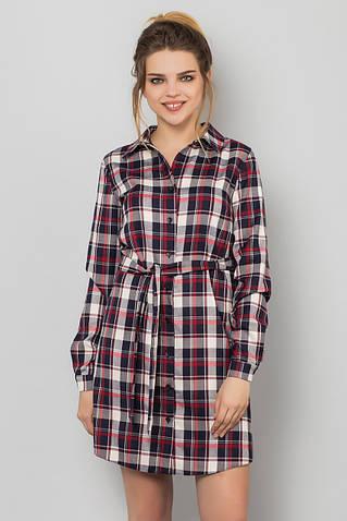 Платье-рубашка в клетку [Размер:: l (48)]