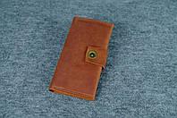 Кожаный кошелек ручной работы Frico | Винтажный Коньяк, фото 1