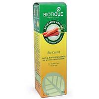 Био лосьен Биотик 40 +SPF+ UVA/UVB - Biotique bio carrot face and body sun lotion