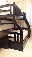 """Двухярусная кровать семейного типа """"Мария""""с ящиками бортиками"""