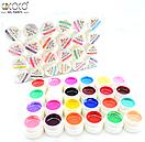 Набір кольорових гелів Coco 24 штуки UV 5 мл, фото 2