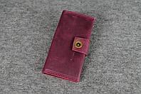 Кожаный кошелек ручной работы Frico   Винтажный Бордо, фото 1