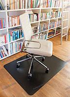 Ковер под кресло защитный Black 92х122см Германия черный Толщина 1.7мм