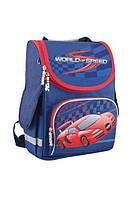 553426 Рюкзак (ранец) школьный каркасный PG-11 World of speed, 34*26*14см.