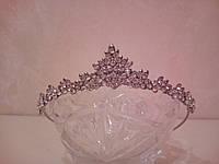 Корона, диадема для девочки, тиара в серебре, высота 2,5  см.