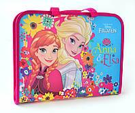 """491166 Папка-портфель на молнии с тканевыми ручками """"Frozen"""""""