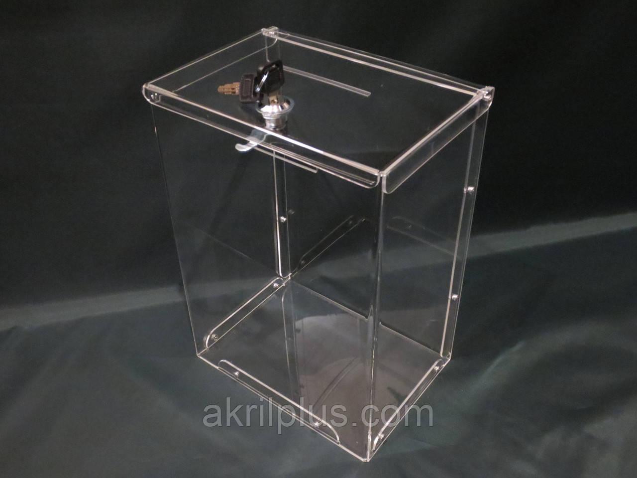 Ящик для благотворительности 300*210*150 - АкрилПлюс в Киеве