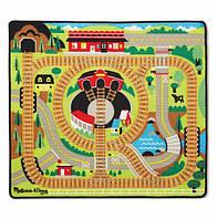 """Игровой коврик с паровозиками """"Железная дорога"""" MD19554, Melissa&Doug"""