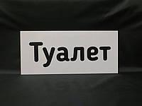 Таблички информационные с надписью