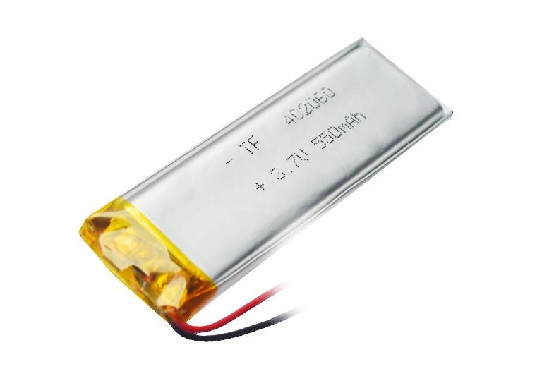 Аккумулятор литий-полимерный 3,7V 550mAh