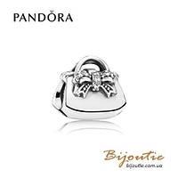 Pandora Шарм ДАМСКАЯ СУМОЧКА #791534CZ серебро 925 Пандора оригинал
