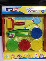 6785 Масса для лепки 4 цвета Play-Toys Turkey+ инструмент для лепки