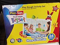 42188 Масса для лепки 6 цветов Play-Toys Turkey+ инструмент для лепки