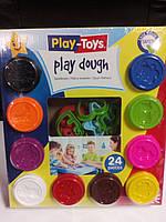 42317 Масса для лепки 10 цветов Play-Toys Turkey+ инструмент для лепки