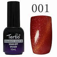 Гель-лак №001 CAT EYES (тёмно-красный магнитный) 10 мл Tertio