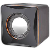 Мини колонки Lesko G101 черные для компьютера и ноутбука питание от USB мощные глубоким басом регулятор звука, фото 3