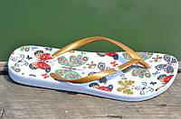 Вьетнамки, шлепанцы, сланцы женские удобные бабочки, бронзовые очень легкие ЭВА. Топ