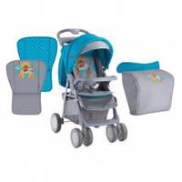 Bertoni Foxy прогулочная коляска, цвет blue&grey hello bear