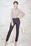Оригинальные офисные женские брюки синего цвета