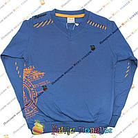 Спортивный синий батник с мысом для подростков от 10 до 16 лет (4058-2)