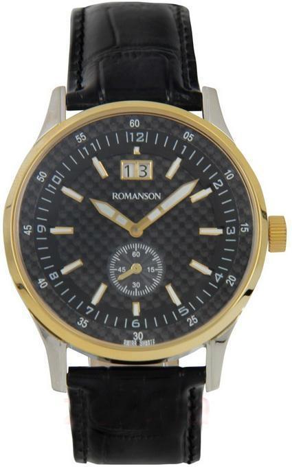 Наручные мужские часы Romanson TL4131BM2T BK оригинал