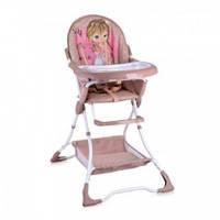 Детский стульчик для кормления Bertoni Bravo, цвет beige&rose princess