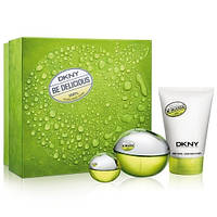 Donna Karan New York Be Delicious SET (EDP 100ml + BODY LOTION 100ml + 7ml MINI) (ORIGINAL)