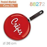 Блинная сковородка 88272 Crepe красная