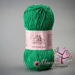 Пряжа Коттонель 400 Vivchari,  № 2012, зел. яблоко