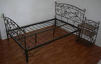 Кровать кованая металлическая полуторная (ш - 1.20м.)