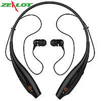 Спортивная bluetooth гарнитура ZEALOT B9 черная беспроводная стерео с микрофоном mp3 плеер для телефонов