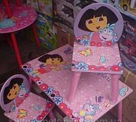 """Детский столик со стульчиками Dorlin Dora J 002-051 «Даша путешественница""""киев, фото 1"""