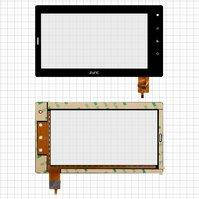 "Сенсорный экран для планшетов China-Tablet PC 7""; Ross&Moor Luna RMD-73G; Explay Informer 706, 7"", 6 pin, емкостный, черный, (186*104 mm),"