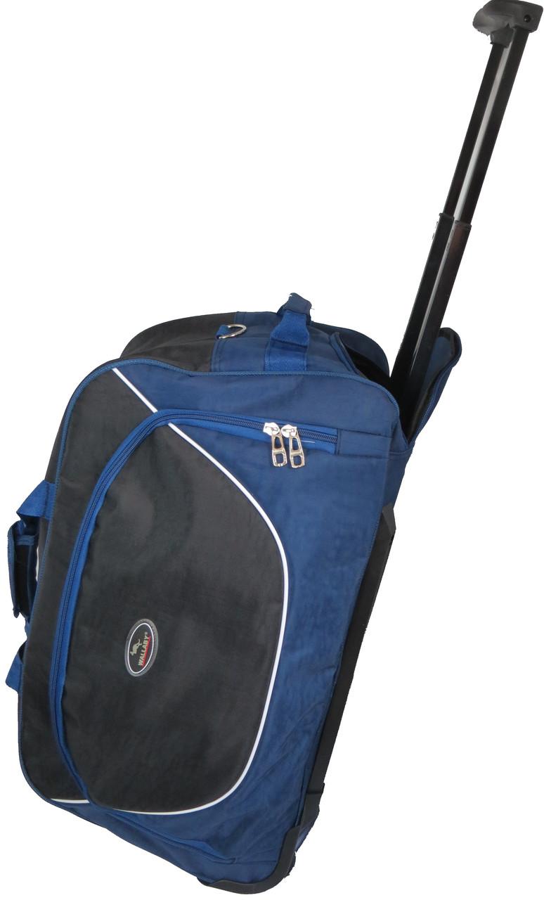 Сумка дорожная спортивная на колесах Wallaby 0428 черный; синий; хаки, 57 л