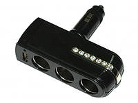 Тройник в прикуриватель 0143+ USB (шт.)