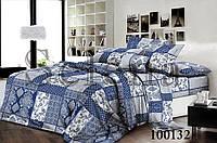 Пэчворк синий Комплект постельного белья