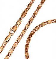 Набор: цепочка+браслет фирмы Xuрing.Позолота с крас. от.  Длина цепочки 51 см, ширина 3 мм.Браслет 22 см.