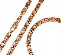 Набор: цепочка+браслет фирмы Xuрing.Позолота с крас. от.  Длина цепочки 50,5 см, ширина 4 мм.Браслет 21,5 см.