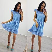 Женское платье (42-44) —прошва купить оптом и в Розницу в одессе  7км