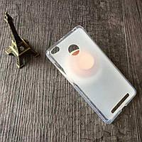 Чехол на Xiaomi Redmi 3 Pro / Redmi 3s силиконовый бампер белый прозрачный