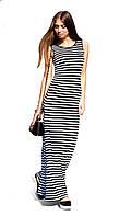 Стильное полосатое платье  в пол «Бриз»