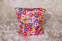 Удобные сумочки для сухих и мокрых вещей c двумя отделениями цветик-семицветик