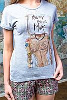 Стильная футболка «Mark» Grey
