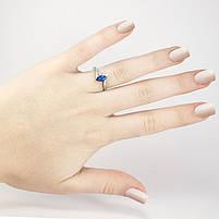 Серебряное кольцо с синим фианитом Арт. RN004SV (16), фото 5
