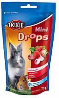 Витамины Trixie Mini Drops для грызунов с клубникой, 75 г, фото 1
