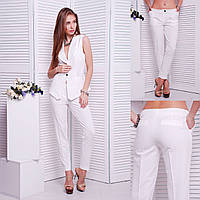 Классические женские брюки «Stels» white